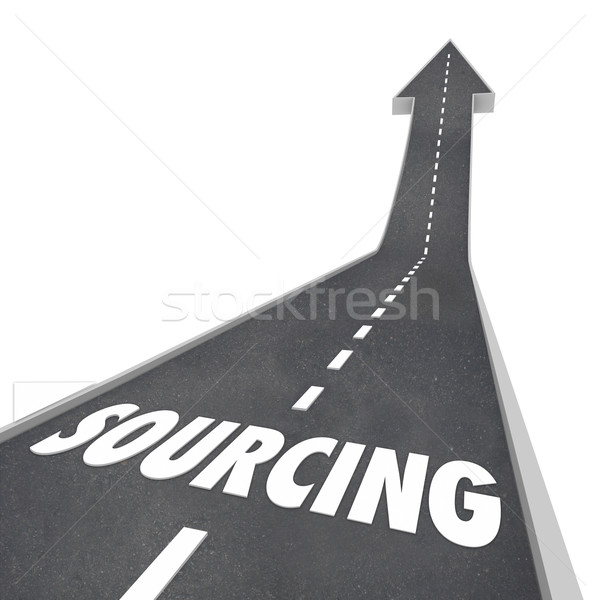 Sourcing Word Supplier Company Vendor Purchasing Parts Supplies Stock photo © iqoncept