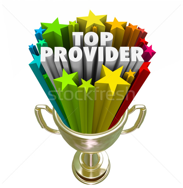 Top Provider Best Supplier Vendor Company Prize Stock photo © iqoncept