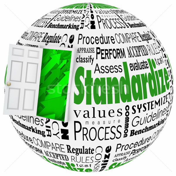 Standardize Word Collage Door Improve Results Stock photo © iqoncept