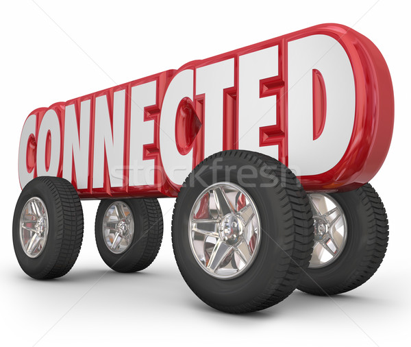 Connected Car Truck Vehicle Autonomous Stock photo © iqoncept