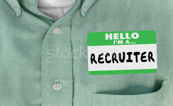 Hello Im a Recruiter Name Tag Hiring 3d Illustration Stock photo © iqoncept