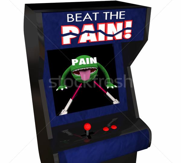 Stock fotó: ütem · fájdalom · kezelés · jobb · videojáték · 3D