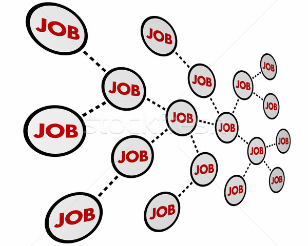 Job Career Working Network Experience 3d Illustration Stock photo © iqoncept