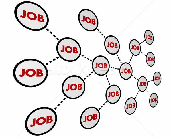 Job Karriere arbeiten Netzwerk Erfahrung 3D-Darstellung Stock foto © iqoncept