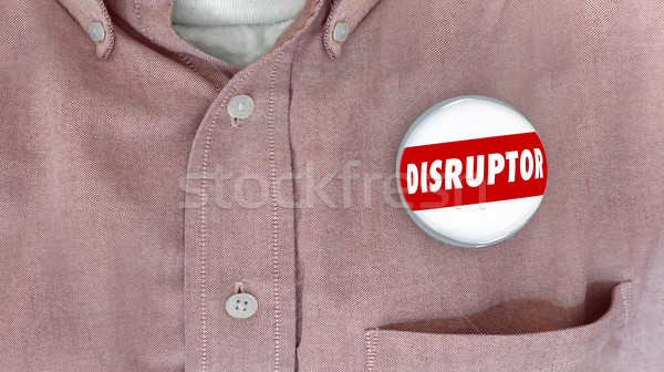Disruptor Button Pin Change Agent Innovator 3d Illustration Stock photo © iqoncept