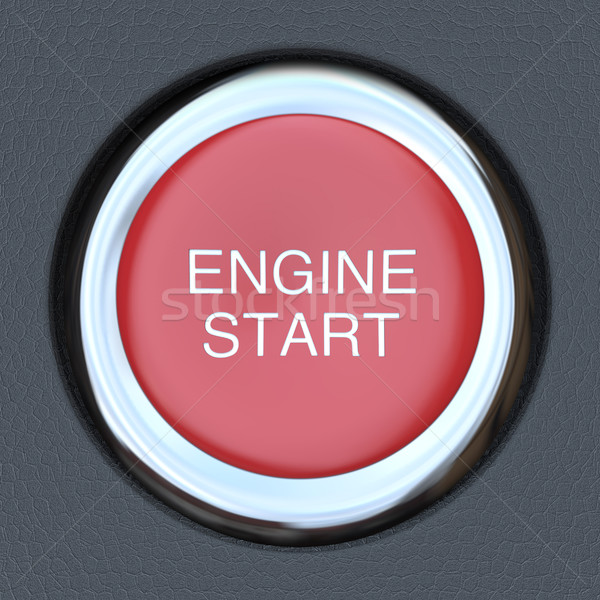 Stock photo: Engine Start - Car Push Button Starter