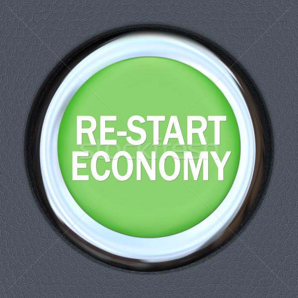 экономики автомобилей кнопки зеленый зажигание Сток-фото © iqoncept
