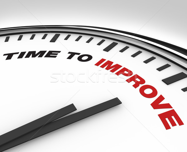 Time to Improve - Clock of Deadline for Plan for Improvement Stock photo © iqoncept