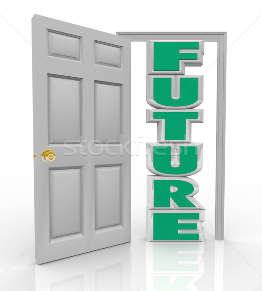 Future Door Opens to New Opportunity Hope and Good Things Stock photo © iqoncept