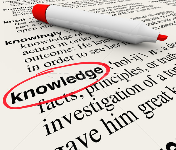 Knowledge Word Dictionary Definition Cirlced Stock photo © iqoncept