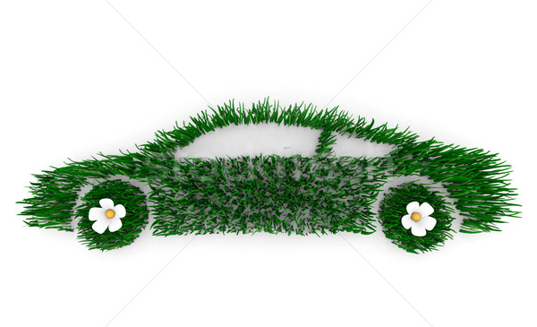 Green Car Made of Grass Stock photo © iqoncept