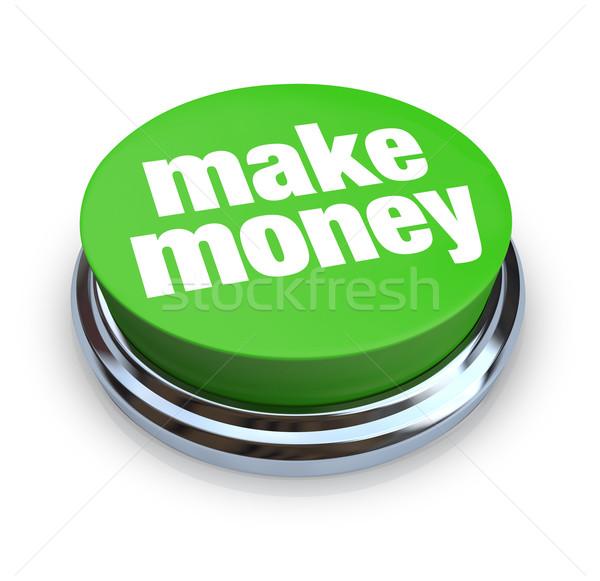 Make Money Button - Green Stock photo © iqoncept