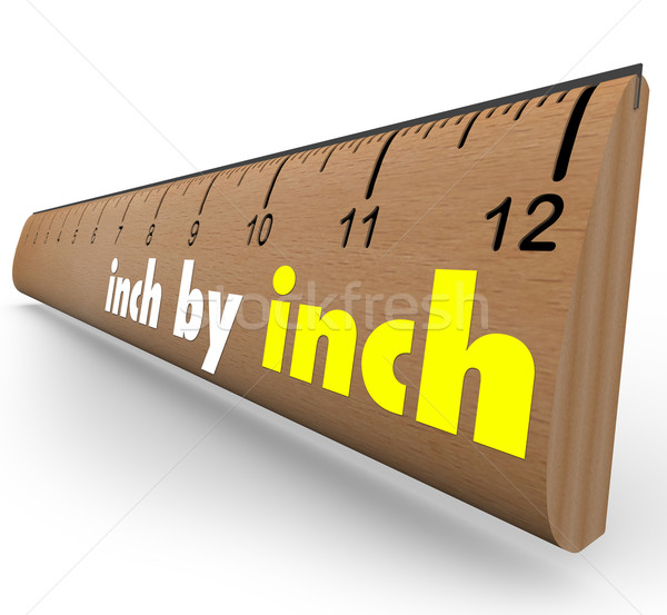 Inch by Inch Incremental Growth Increasing Ruler Measure Stock photo © iqoncept