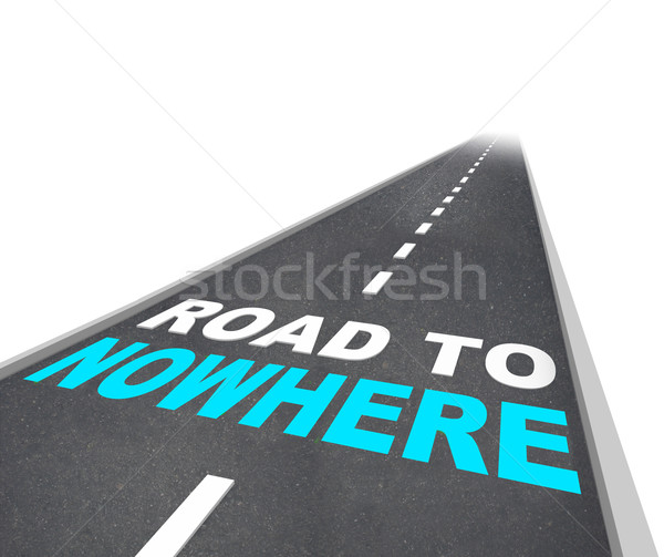 Road to Nowhere - Words on Freeway Stock photo © iqoncept
