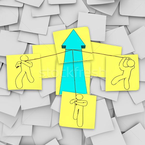 Photo stock: Travail · d'équipe · croissance · flèche · équipe · up
