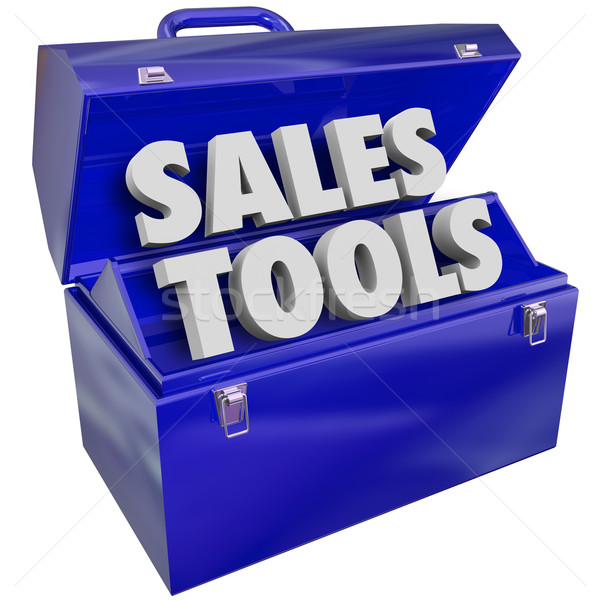 Sales Tools Words Toolbox Selling Technique Scheme Stock photo © iqoncept