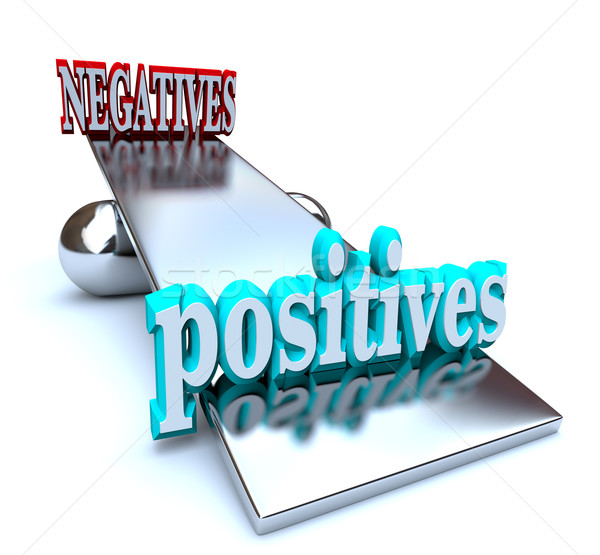 Weighing the Positives vs Negatives Stock photo © iqoncept