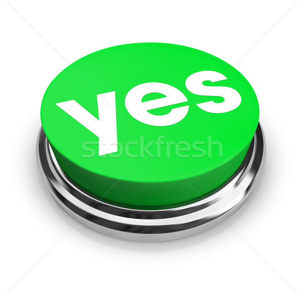 Yes - Green Button Stock photo © iqoncept