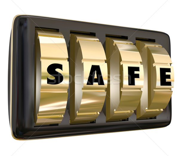 Safe Word Lock Dials Secret Security Safety Secured Password Acc Stock photo © iqoncept