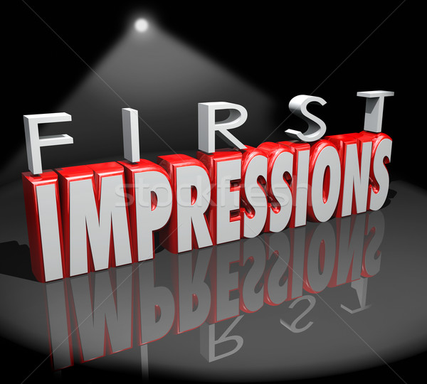 First Impressions Spotlight Introduction Debut Meeting New Peopl Stock photo © iqoncept