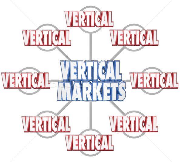 Vertical Markets Specific Business Industry Market 3d Words Grid Stock photo © iqoncept
