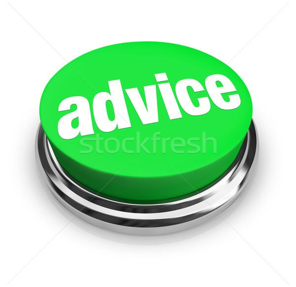 Conseil mot bouton aider conseils soutien Photo stock © iqoncept