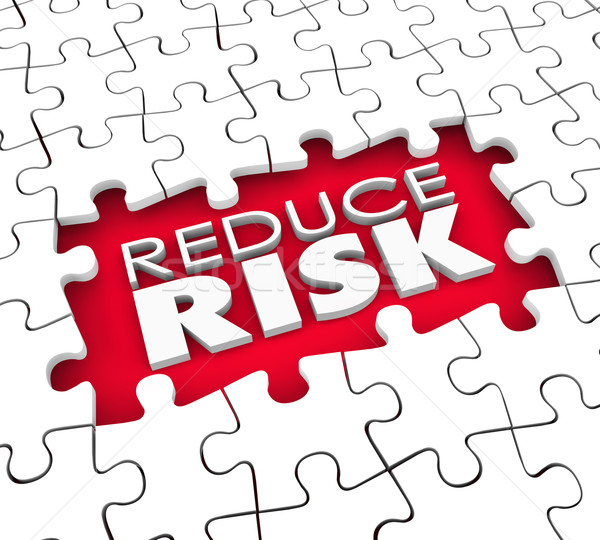 Reduce Risk Puzzle Hole Pieces Lower Danger Increase Safety Secu Stock photo © iqoncept