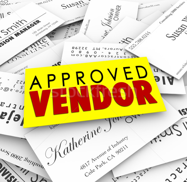 Approved Vendor Business Cards Preferred Provider Best Service C Stock photo © iqoncept