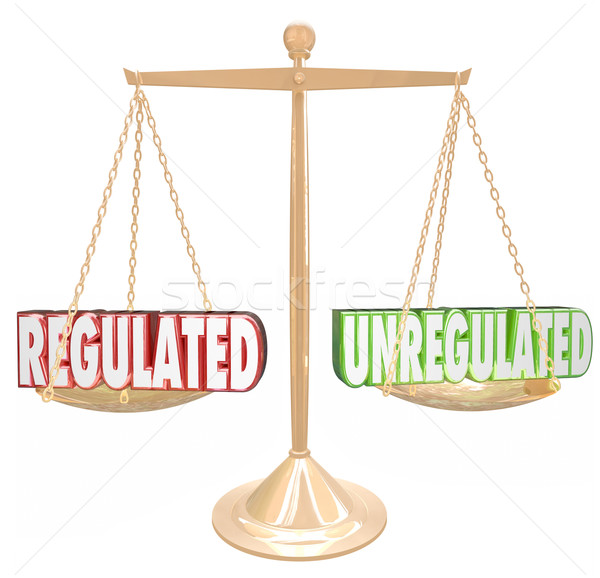 Regulated Vs Unregulated Rules Compliance Following Guidelines S Stock photo © iqoncept
