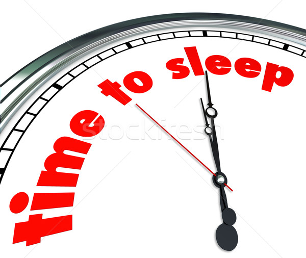 Time to Sleep Clock Bedtime Dreaming Rest Relaxation Nap Stock photo © iqoncept