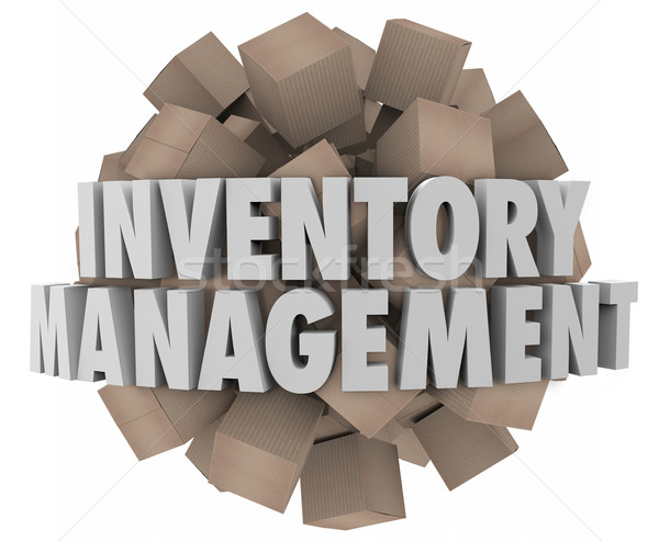 Inventory Management Cardboard Boxes Merchandise Stock Logistics Stock photo © iqoncept