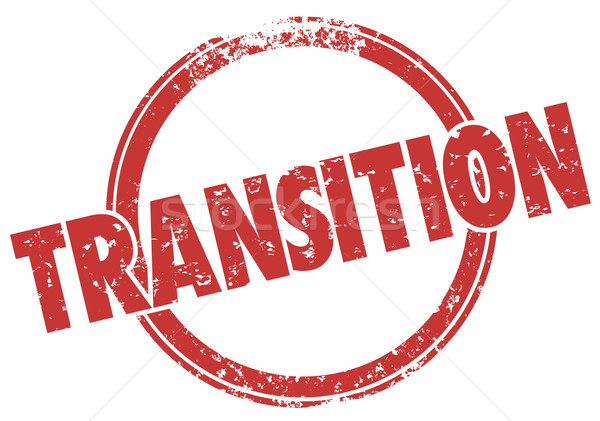 Transition Word Red Grunge Style Stamp Change Transformation Stock photo © iqoncept