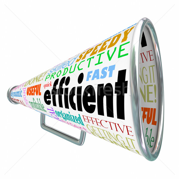 Efficient Productive Bullhorn Megaphone Effective Organized Stock photo © iqoncept