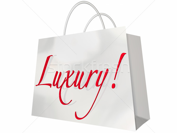 Luxury Shopping Bag Expensive Exclusive Premium Items Stock photo © iqoncept