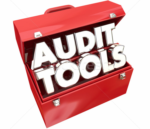Audit Tools Toolbox Tax Accounting Review 3d Illustration Stock photo © iqoncept