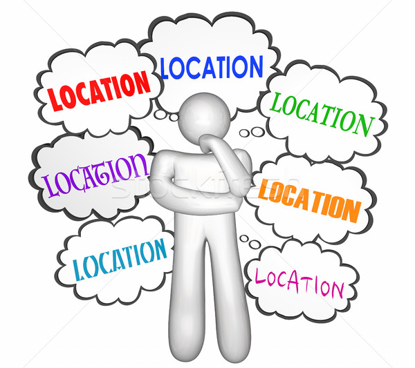 Location Real Estate Home House Buyer Shoping Thinker Thought Cl Stock photo © iqoncept