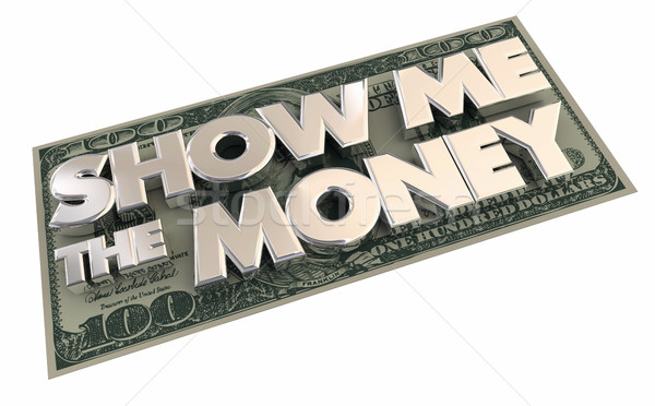 Show me geld cash inkomen contract Stockfoto © iqoncept