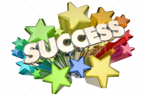 Success Stars Celebration Succeed Mission Goal 3d Illustration Stock photo © iqoncept