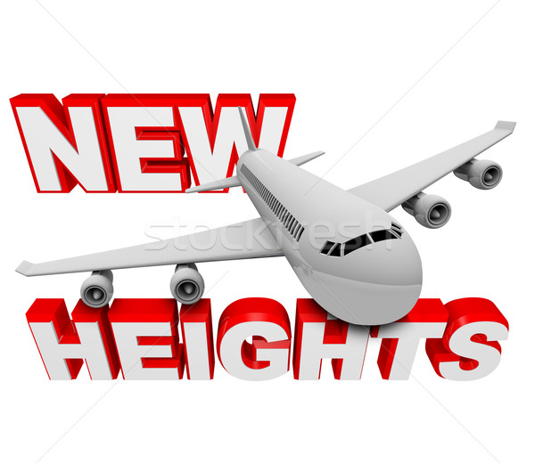 New Heights - Airplane Cimbs Higher to Reach Goal Stock photo © iqoncept