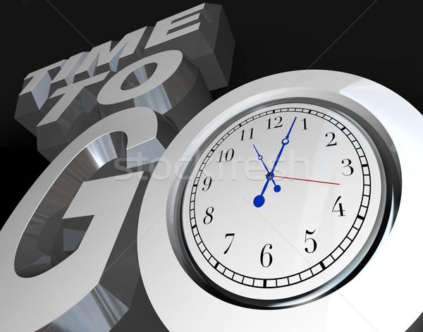 Tempo 3D parole clock giù momento Foto d'archivio © iqoncept
