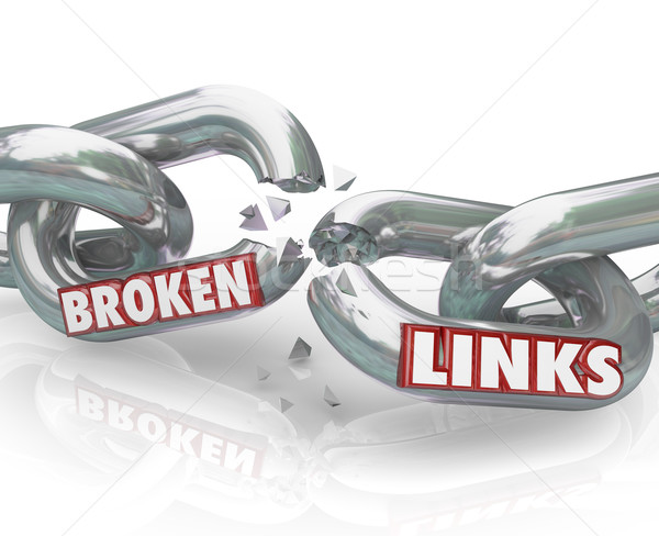 Broken Links Chain Separated Damaged Connections Stock photo © iqoncept
