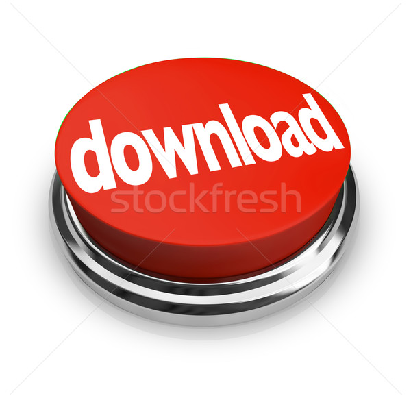 Download Red Round Button Order Online Internet Stock photo © iqoncept