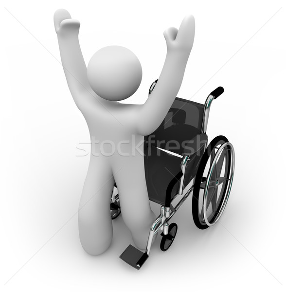 Cured Person Rising from Wheelchair Stock photo © iqoncept