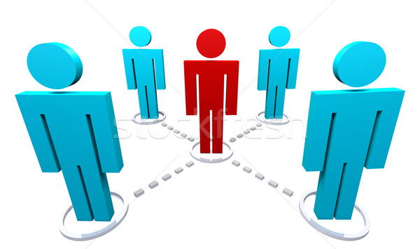 Network of Several People Stock photo © iqoncept