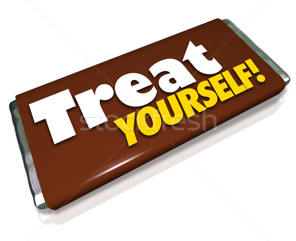 Treat Yourself Chocolate Candy Bar Indulgence Stock photo © iqoncept