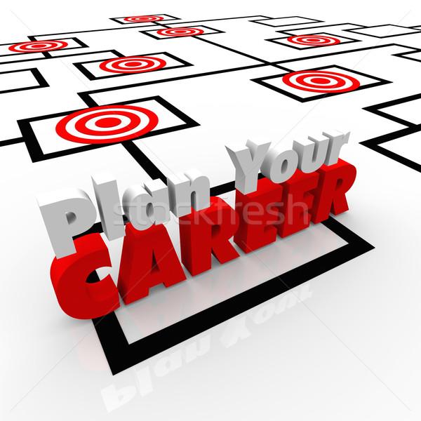 Plan carriere posities grafiek jobs Stockfoto © iqoncept