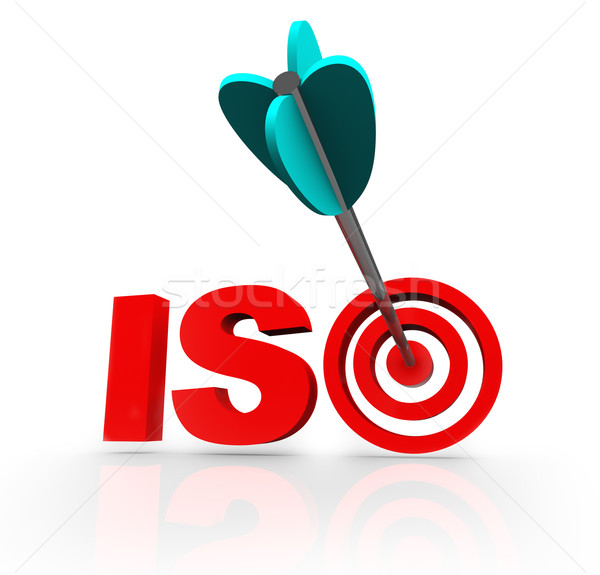 ISO Word Acroynm Target Arrow Certified Company Stock photo © iqoncept
