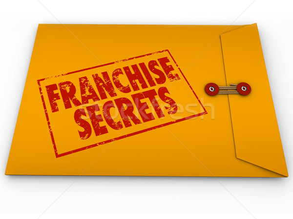 Stock photo: Franchise Secrets New Chain License Business Success Tips Advice