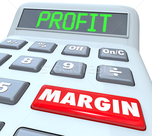 Profit Margin Words Calculator Figuring Net Earned Income Stock photo © iqoncept