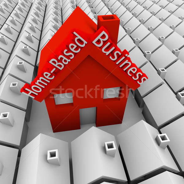 Home Based Business House Standing Out Neighborhood Self Employe Stock photo © iqoncept